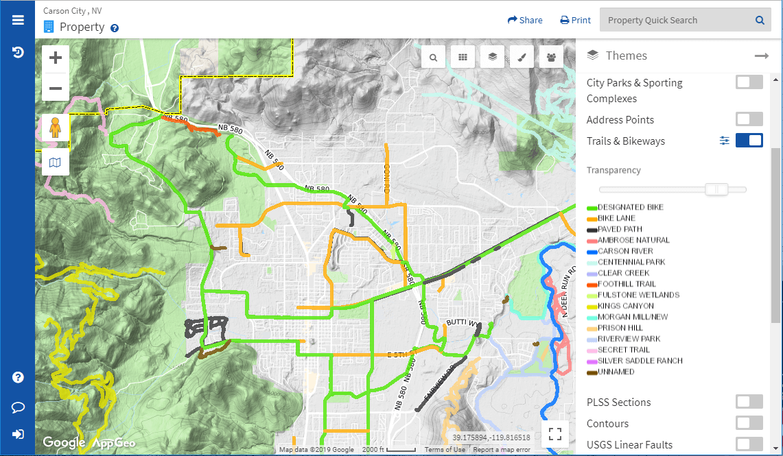 Carson City, Nevada Parcel Maps and Data